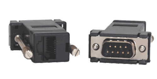 10 x DB9M to RJ45 straight serial adapter