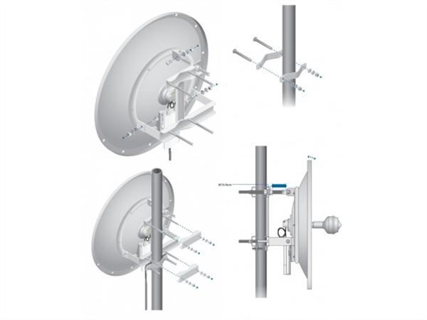 24dBi 2.4GHz Dual Polarity airMAX 60cm RocketDish Antenna