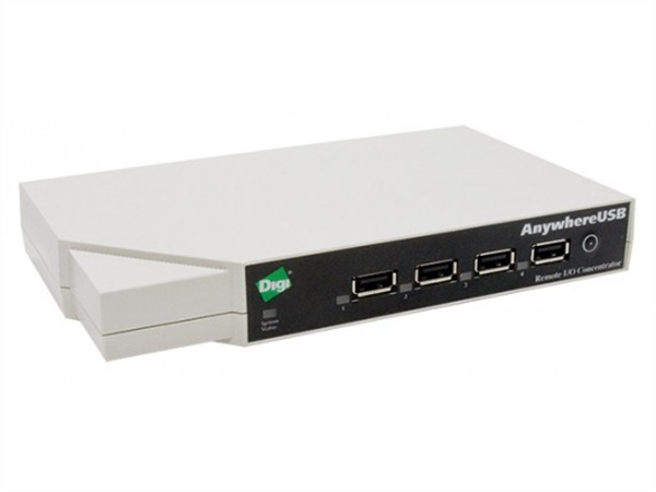 Network Attached 5-port USB Hub with Multi-Host Connections