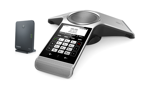 DECT wireless conference phone with W60B DECT base station