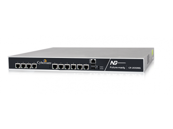 Unified Threat Management Appliance, VPN Router, Firewall, 10 10/100/1000 Ethernet ports, 14 Gbps Firewall Throughput, 1.4 Gbps UTM Thro
