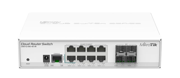 8-Port Gigabit Ethernet Layer 3 Switch, with 4x SFP ports