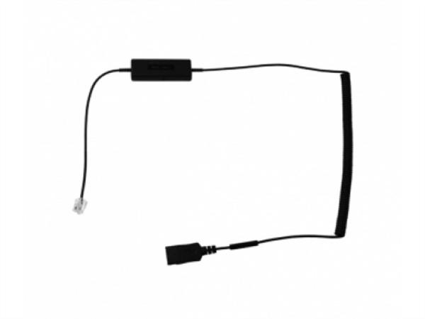 i12 Intelligent Cord, RJ plug to QD Curly Cord Adapter