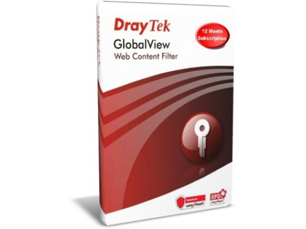 Commtouch GlobalView Web Content Filter Lic. for Vigor2930, 2950, 2955, VigorPro 5300, 5510, VigorIPPBX 3510, Vigor3300 and Vigor Vigor3300