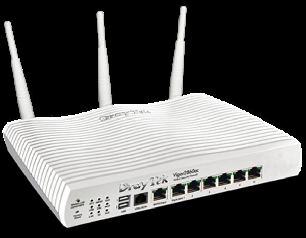 ADSL/VDSL/UFB Router, USB, 6xGigE LAN, VPN, QoS, VLAN, 802.11ac WiFi