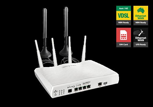 Triple WAN Router, LTE, ADSL/VDSL, UFB, 4x Gig LAN, 802.11ac WiFi