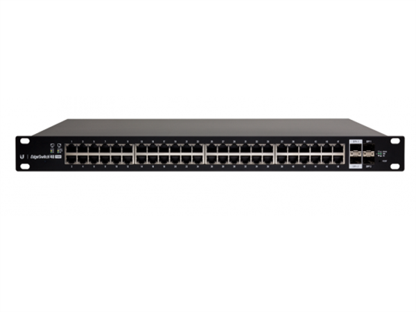 EdgeSwitch 48 Gigabit Ethernet Ports, 2 SFP+ Ports and 2 SPF Ports, 24V / 802.3af / 802.3at PoE (750W max)