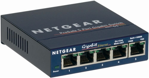 ProSafe 5-port Gigabit Switch, Desktop Sized