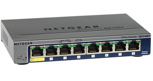 ProSAFE 8-port Gigabit Smart Switch, PoE or Wall-plug Powered