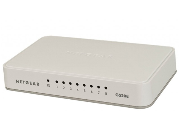 8-Port Gigabit Ethernet Switch, Unmanaged, Desktop Sized