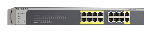 ProSAFE 16-port Gigabit Smart Ethernet Switch with PoE and PD Ports