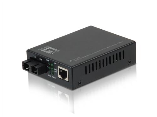 10/100/1000BASE-T to 1000BASE-SX Multi-mode Fibre Converter, SC, 550m