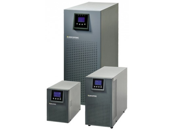 Socomec ITYS 1000VA / 800W UPS, online double conversion, Tower.