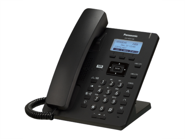 Compact IP Phone, 2 SIP accounts, 132 x 64 pixel 2.3 inch graphical LCD with backlight, HD Voice (G.722), PoE, AC adapter optional