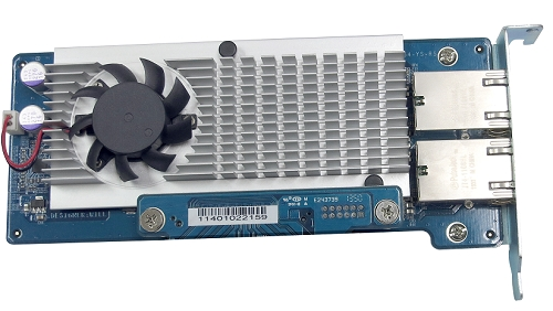 Dual-port 10Gbase-T network expansion card for TS-879U-RP, TS-1279U-RP, TS-EC879U-RP, TS-EC1279U-RP, TS-1679U-RP, TS-EC1679U-RP, TVS-1271U-