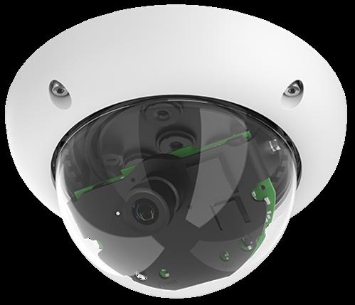 Indoor/Outdoor 6 Megapixel Dome IP Camera, 15 degree lens