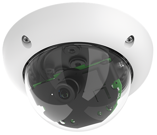 Indoor/Outdoor 6 Megapixel Night Dome IP Camera, 45 degree lens