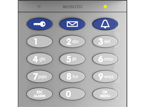 Keypad for T25 System with RFID Technology, Silver