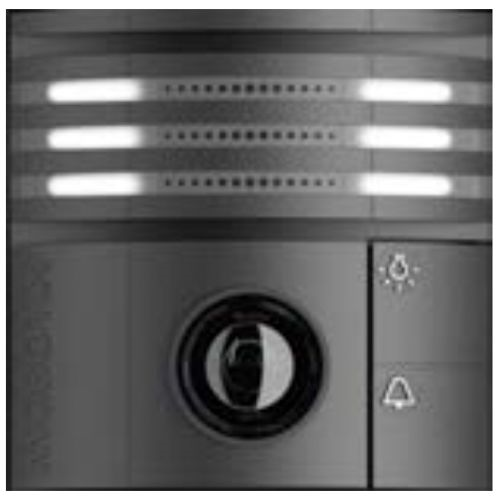Black Weatherproof IP Video Door Station Camera, 6MP, 180 Degree View, Night