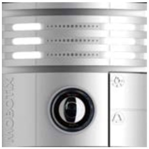 Silver Weatherproof IP Video Door Station Camera, 6MP, 180 Degree View, Night