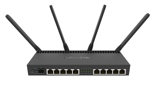 Router with 10x GigE RJ45, 1x 10GigE SFP+ port, 802.11a/b/g/n/ac WiFi