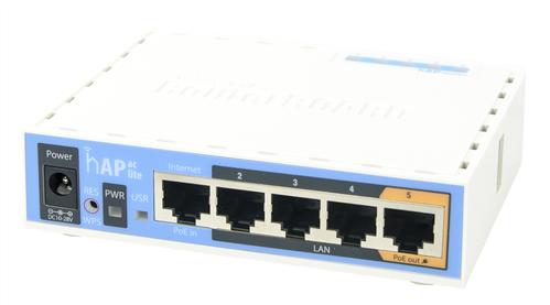 hAP ac Lite, 802.11ac 5 Port Router