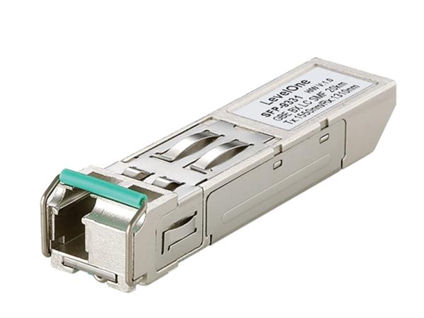 Gigabit Single-mode Bi-directional SFP (20km, TX/RX 1550/1310nm)