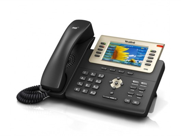IP phone, Dual Gigabit Ethernet, 4.3in. 480 x 272 pixel color display with backlight, PoE, (AC Adapter optional)