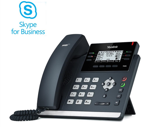 Skype for Business Edition IP Phone, SIP-T42S (AC Adapter optional)