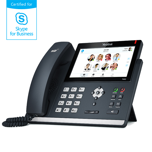 SFB phone, 7in. colour display, Dual Gigabit Ethernet, PoE