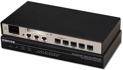 Smartnode 5 BRI VoIP IAD - 8 VoIP Call; Passthrough Relay; H.323 and SIP, Internal UI Power.