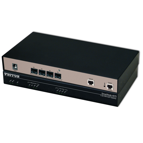 SmartNode 4 T1/E1 PRI VoIP Gateway, 1x GigEthernet, 30 VoIP channels; upgradeable to 60, Failover Relay, External UI Power, IPv6 ready.