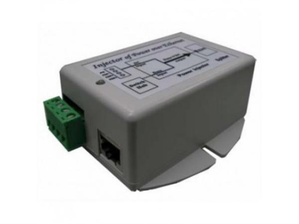 Gigabit PoE Injector, 48VDC 802.3af Out, 9-36V DC Input