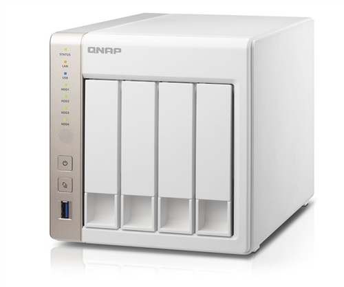 4 Bay SATA 6Gb/s NAS, Quad-Core Intel Celeron 2.0GHz CPU, 2GB DDR3L (Max. 8GB) RAM, 2 Gigabit Ethernet, Tower Chassis
