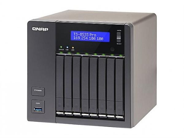 8-bay 2.5in. SATA NAS, Quad-core Intel Celeron 2.0GHz CPU, 4GB DDR3L (Max. 8GB) RAM, 2 x Gigabit Ethernet, Tower Chassis