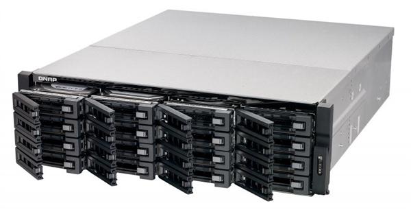 16-Bay 3U TurboNAS, Xeon E3-1200 v3 family, 4GB ECC RAM(max. 32GB RAM), 4-LAN, built-in 2 10Gb SFP+, 40G ready, iSCSI, redundant power supp