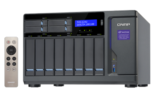 12-Bay TurboNAS, SATA 6G, Core™ i3-6100 3.7 GHz, 8GB RAM