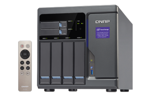 6-Bay SATA 6Gb/s NAS, Core i3-6100 3.7 GHz CPU, 8GB RAM, 4x GigE, 10Gb