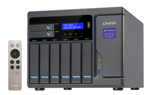 8-Bay TurboNAS, SATA 6G, Core™ i5-6500 3.6 GHz, 16GB RAM