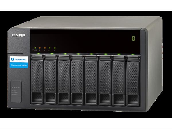 8-Bay Thunderbolt storage expansion enclosure for QNAP Thunderbolt NAS