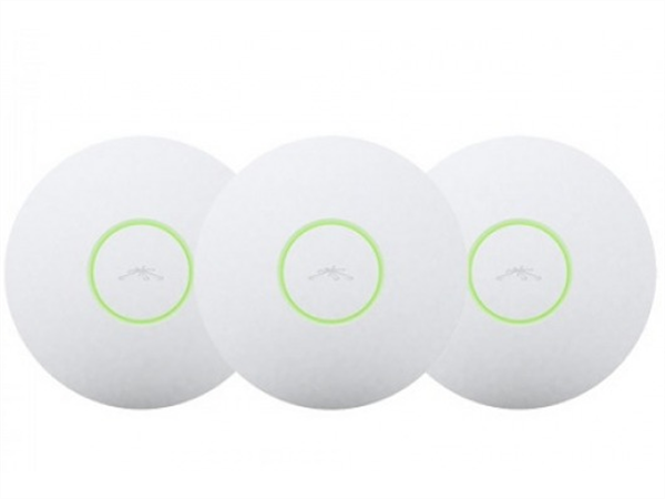 3-pack of UniFi 802.11b/g/n 500mW Long Range Indoor Access Point, PoE included