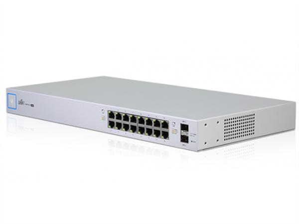 UniFi Switch 16 Gigabit Ethernet Ports, 24V / 802.3af / 802.3at PoE, (150W max), 2 SFP Ports