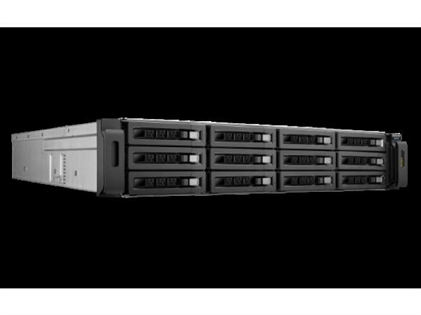 12-bay SAS/SATA/SSD RAID Expansion Enclosure for QNAP NAS Appliances, 2U, Rackmount Chassis, Rack Kit Included