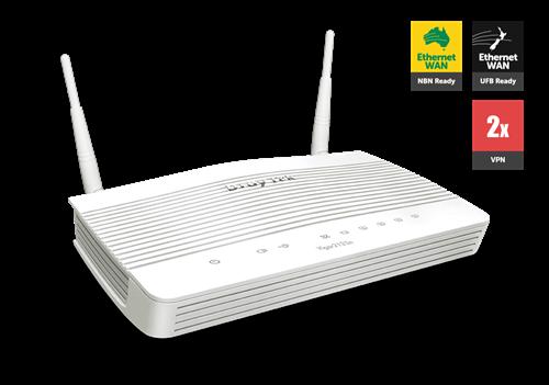 UFB Router/Firewall, QoS, VPN, 4x GigE LAN, 1x GigE WAN, 802.11ac WiFi