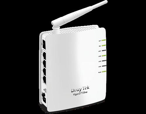 ADSL2+ Router, 4 LAN ports, PPPoE/ PPPoA Relay, 802.11b/g/n Wireless