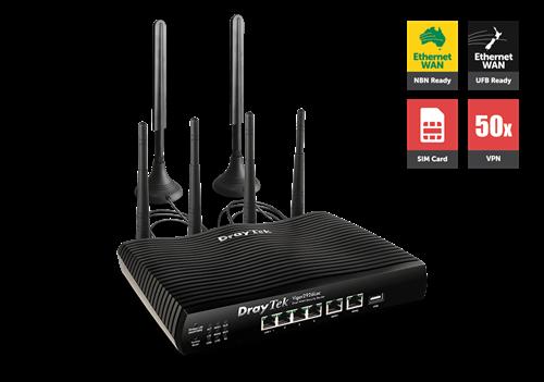 4G Router/Firewall, Dual GigE WAN, IPSec & PPTP VPN, QoS, 802.ac WiFi