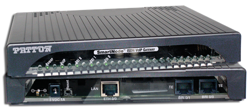 SmartNode ISDN BRI PSTN VoIP Gateway, 1 BRI/So TE, 2 voice/fax calls, 1x 10/100 Ethernet, external power
